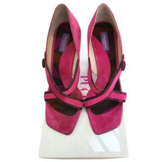 Emilio Pucci vintage pink suede sandals