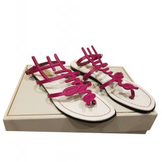Emilio Pucci limited edition pink leather sandals
