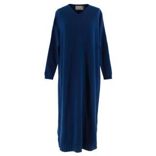 Varana Blue cashmere jumper dress