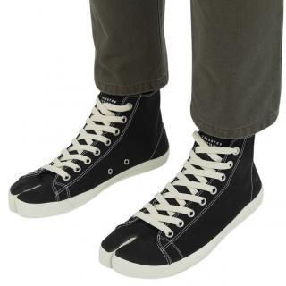 Maison Martin Margiela men's black fabric sneakers