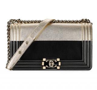 Chanel two-tone lambskin boy bag