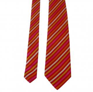 Jean Charles de Castelbajac striped silk neck tie