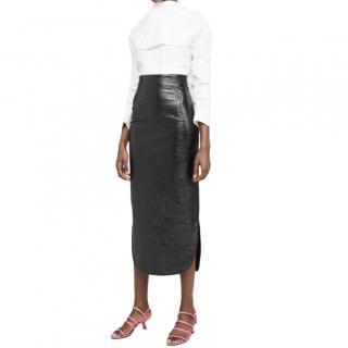A.W.A.K.E Mode metalic pencil skirt