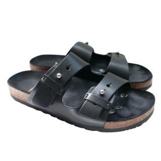 Saint Laurent Matte Black Jimmy 05 Sandals
