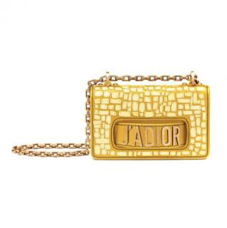 Dior Yellow Mosaic Mini J'adior Flap Bag