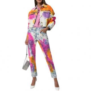 Versace Multicoloured Tie-Dye Jeans
