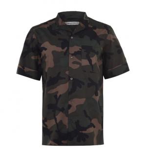 Valentino Camo Print Short Sleeve T-Shirt