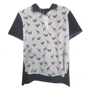 Max Mara Printed Silk & Cotton Top
