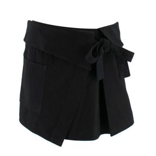 Isabel Marant black apron mini skirt