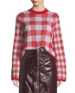 McQ Alexander McQueen Checkerboard Red Jumper