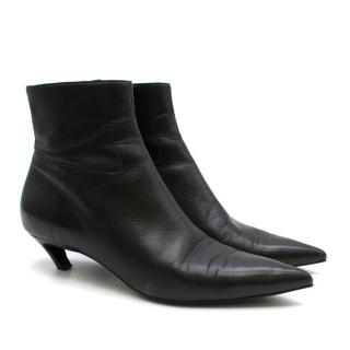 Balenciaga Curved Kitten Heel Ankle Boots