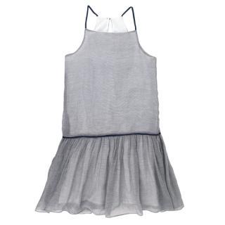 Jacadi blue and white striped girl's summer dress