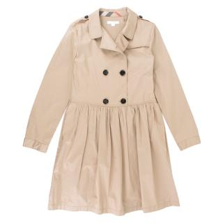 Burberry girl's beige trench coat dress