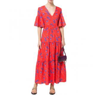Borgo De Nor Teodora Orchid-Print Maxi Dress
