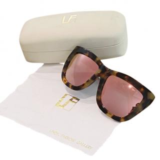 Linda Farrow x Phillip Lim Mirrored Oversize Sunglasses