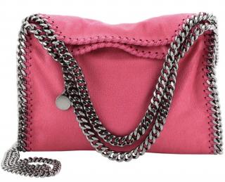 Stella McCartney Pink Falabella Fold Over Bag
