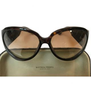 Bottega Veneta Oversize Tortoiseshell Sunglasses