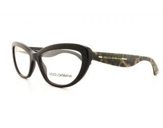 Dolce & Gabbana Animal Print Black Opticals