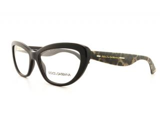 Dolce & Gabbana Animal Print Black Opticals