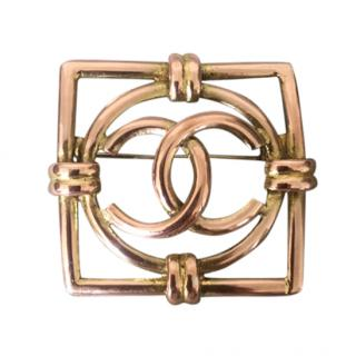 Chanel Vintage Square CC Pin Brooch
