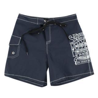 Burberry boy's navy swim shorts