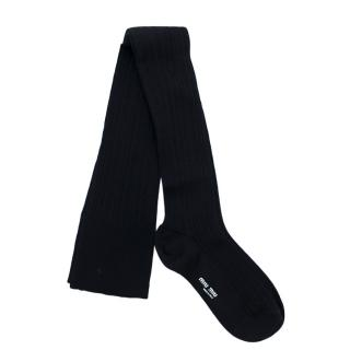 Miu Miu Navy Wool Stockings