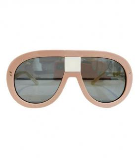Stella McCartney Round Pilot Oversize Sunglasses