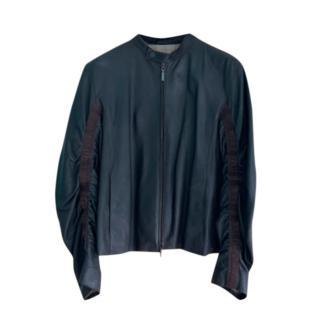 Armani Collezioni Men's Brown Leather Jacket
