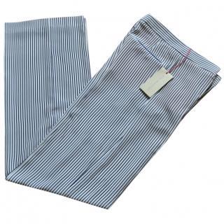 Stella McCartney Striped Silk Trousers