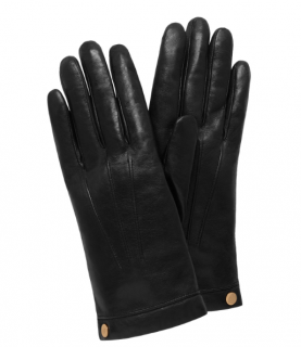 Mulberry Soft Nappa Leather Gloves in Black
