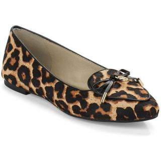Michael Michael Kors Nancy Leopard-Print Calf Hair Flats