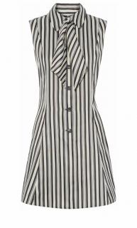 Alexander McQueen MCQ short striped cotton dress