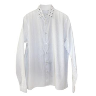 Prada studded collar white shirt