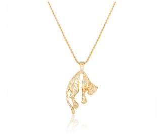 Bespoke Yellow Gold & Diamond Panther Pendant