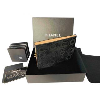 Chanel Vintage COCO Embossed Black Pouch Clutch