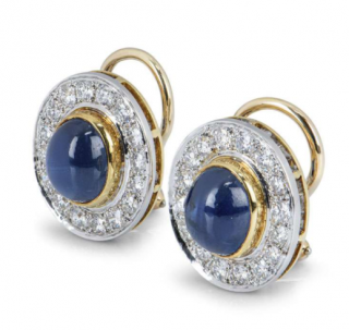 Van Cleef & Arpels Sapphire Earrings with Diamonds