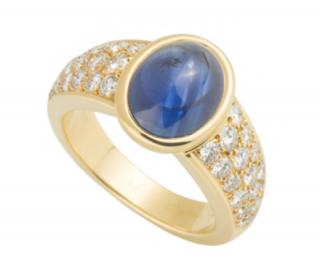 Cartier Sapphire Ring Set with Diamond
