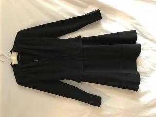 Proenza Schouler Long Sleeved A-Line Satin Crepe Dress