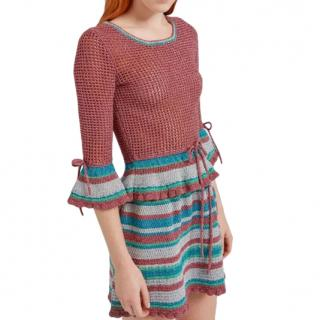 Mulberry Dorothy Skirt in French Rose Lurex Knit