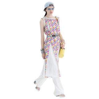 Chanel Airport Collection Printed Pleated Dress