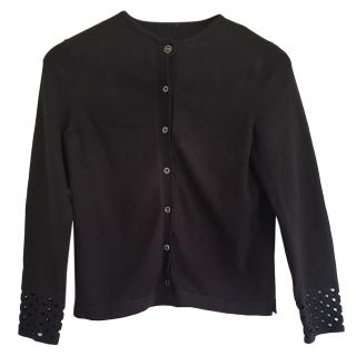 Fendi Black Knit Cut-Out Cardigan