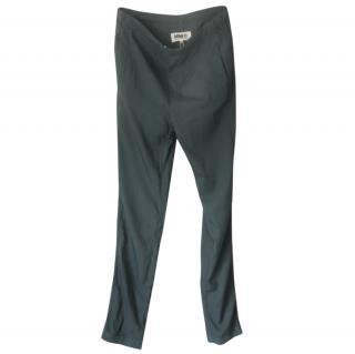 MM6 Maison Margiela Black Drawstring Casual Trousers