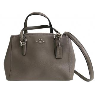 Coach Grey Leather Sutton Tote