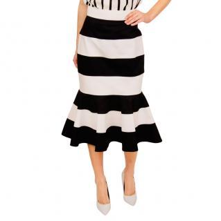 Dolce & Gabbana Striped Trumpet Skirt