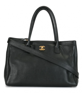 Chanel Black Caviar Leather Executive Cerf Tote