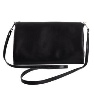 Rick Owens Medium Black Leather Crossbody Bag