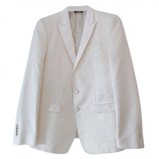 Dolce & Gabbana Satin Ivory Jacket