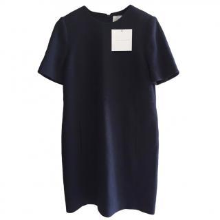 Victoria Victoria Beckham Navy Crepe Shift Dress