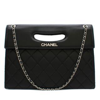 Chanel Fold-Over Top Handle Chain Bag