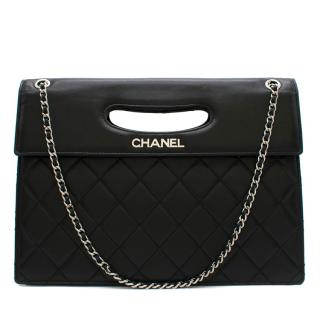 Chanel Fold-Over Top Handle Chain Bag